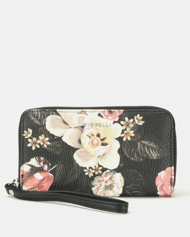Fiorelli Finley Medium Zip Around Purse Finsbury Black