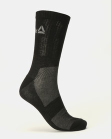 Reebok Performance Active Foundation Mid Crew Socks 3 Pack Black