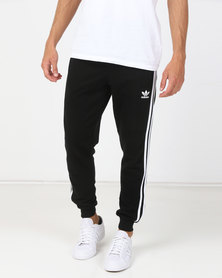 adidas Originals Mens Adicolour 3 Stripe Pants Black