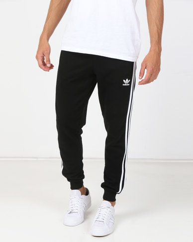 preview of on sale online how to buy adidas Originals Mens Adicolour 3 Stripe Pants Black
