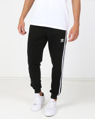 adidas Originals Mens Adicolour 3 Stripe Pants Black a1f38e55a3