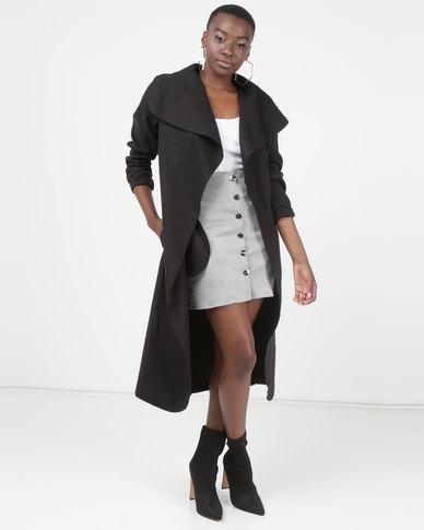 Utopia Melton Coat Black