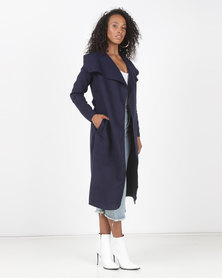 Utopia Melton Coat Navy