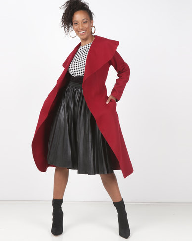 Utopia Melton Coat Red