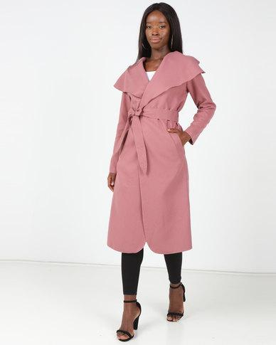 Utopia Melton Coat Blush