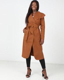 Utopia Melton Coat Brown