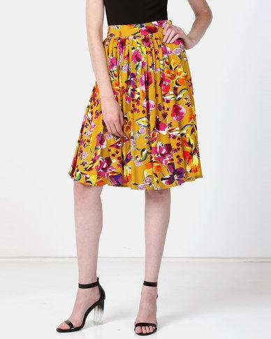 JanaS Belle Flared skirt Mustard