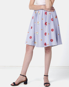 JanaS Belle Flared skirt with Embroidery