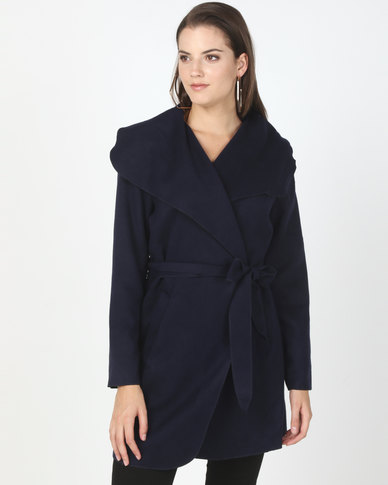 Utopia Melton Shawl Collar Jacket Navy