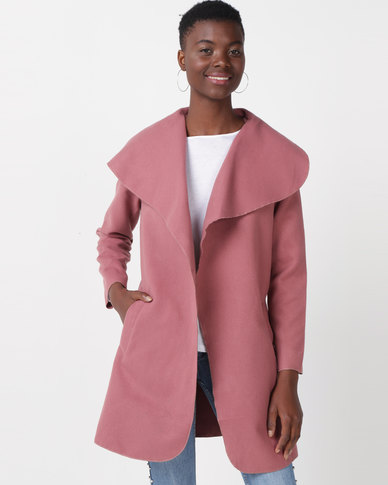 Utopia Melton Shawl Collar Jacket Blush