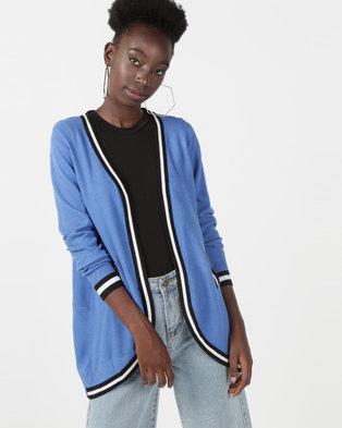 Utopia Knitwear Cardigan Blue
