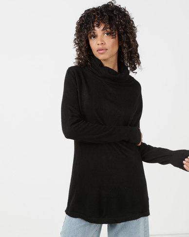 Utopia Knitwear Poloneck Black