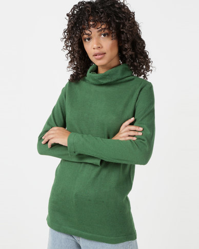 Utopia Knitwear Poloneck Green