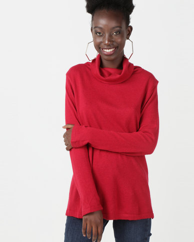 Utopia Knitwear Poloneck Red