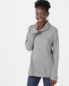 Utopia Knitwear Poloneck Grey