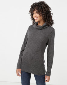 Utopia Knitwear Poloneck Charcoal