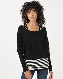 Utopia Two Piece Knitwear Set Black
