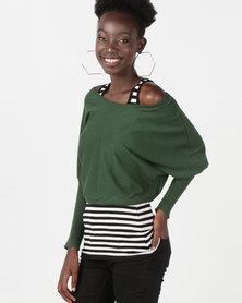 Utopia Two Piece Knitwear Set Green