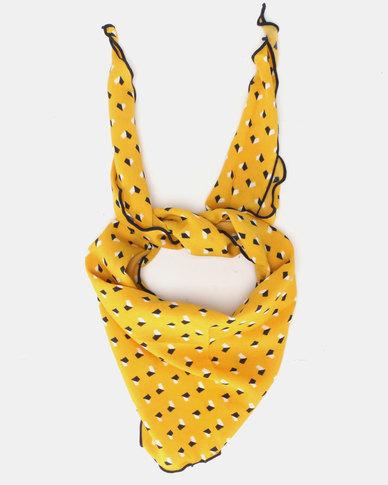 You & I Geo Print Triangle Neckerchief Mustard