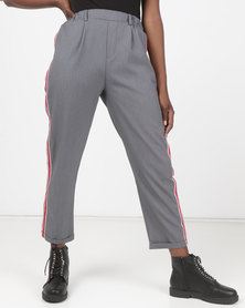 Utopia Side Stripe Straightleg Trousers Grey