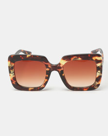 You & I Runway Sunglasses Tort