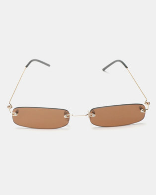 You & I Belle Sunglasses Silver Brown
