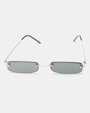 You & I Belle Sunglasses Silver Smoke