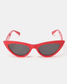 You & I Extra Cat Eye Sunglasses Red