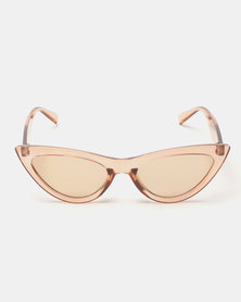 You & I Extra Cat Eye Sunglasses Trans Caramel