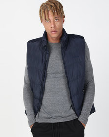 Utopia Sleeveless Puffer Navy