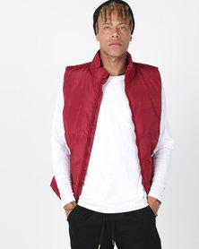 Utopia Sleeveless Puffer Burgundy