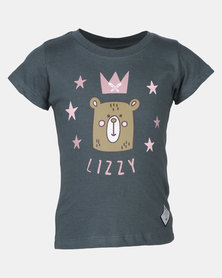 Lizzy Emmi Stormy Tots Basic SS Tee Blue-Green
