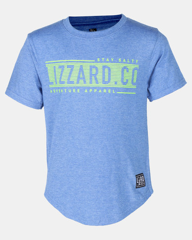 Lizzard Ford Snorkel Styled Short Sleeve Tee Blue