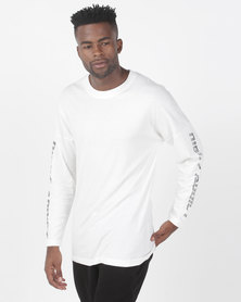 Night Addict Long Sleeve T-Shirt With Sleeve Print Black