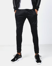 Night Addict Side Stitch Joggers Black