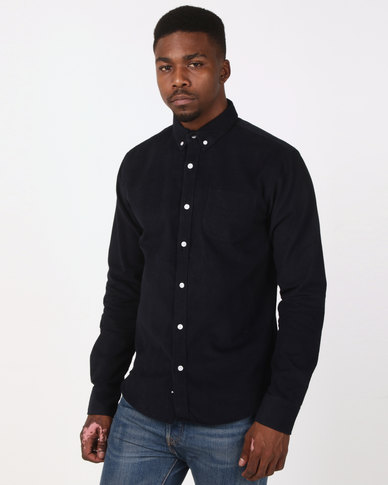 D-Struct Cord Shirt Navy