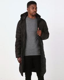 D-Struct Long Duvet Jacket Black