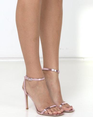 Public Desire Notion Heels Mirror PU Pink