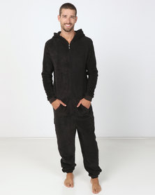 Brave Soul Onesie With Hood Charcoal