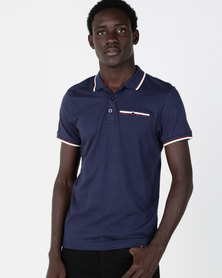 Smith & Jones Moxley Jersey Polo Navy