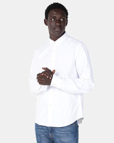 Smith & Jones Corwin Long Sleeve Shirt White
