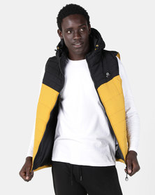 Smith & Jones Karby Puffer Gilet Black/Gold