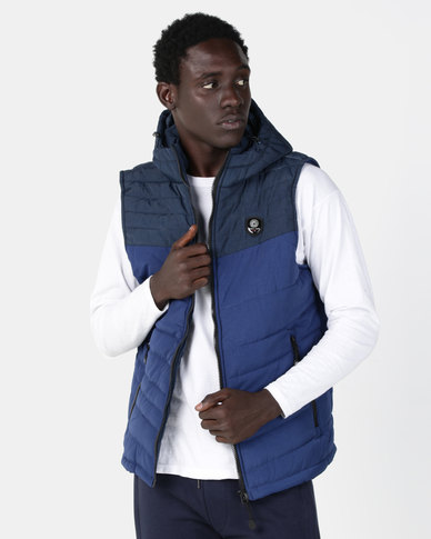 Smith & Jones Karby Puffer Gilet Blue