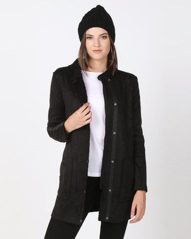 Bellfield Reversible Sherling Jacket Black