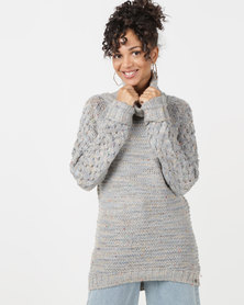 Bellfield Roll Neck Jumper Grey