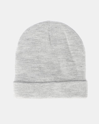 Brave Soul Mens Knitted Beanie Light Grey Marl  20d425a3918