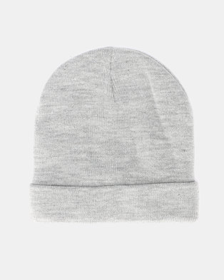 Brave Soul Mens Knitted Beanie Light Grey Marl 43eb11f664bc