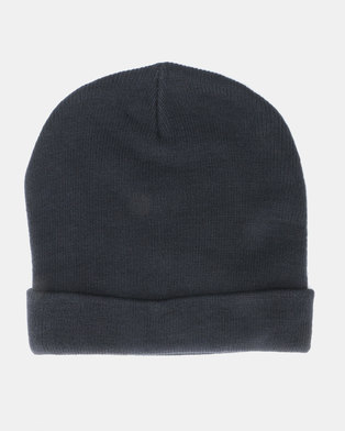 Brave Soul Mens Knitted Beanie Navy 9f78977559c