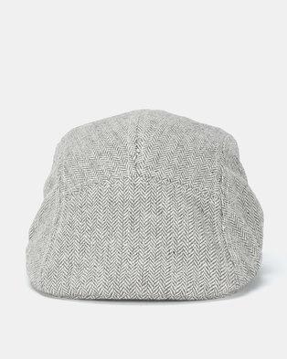 Brave Soul Dan Flat Cap White Grey 510dec2b46f