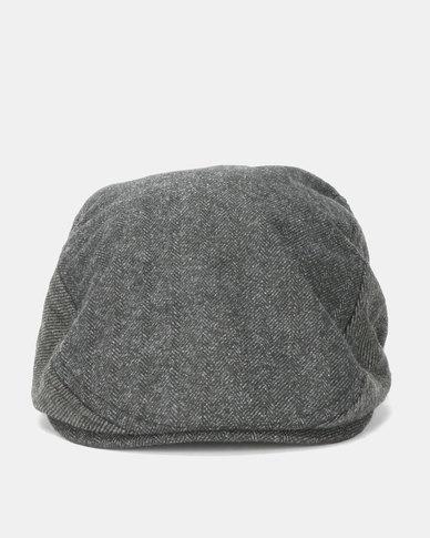 Brave Soul Dan Flat Cap Charcoal Grey  4416105cb2d